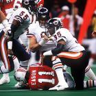 How dominating was the Chicago defense? Only one of New England's first 16 plays gained positive yardage and the Patriots didn't muster a first down until the second quarter. Dent led the way for Buddy Ryan's terrifying unit, recording one-and-a-half sacks, forcing two fumbles and deflecting a pass as the Bears rolled to a 46-10 triumph.