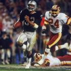 The six-time Pro Bowler carried 20 times for a then-record 191 yards as the Raiders swept aside the Redskins, 38-9. Allen scored a pair of touchdowns in the third quarter -- including his famous 74-yard cutback touchdown scamper -- to lock down the Most Valuable Player trophy.