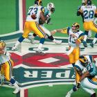 After throwing 41 TD passes in one of the most out-of-nowhere campaigns in NFL history, the conductor of the prolific Greatest Show on Turf passed for a record 414 yards -- including a game-clinching 73-yard strike to Isaac Bruce with 1:54 remaining -- to lock down MVP honors as St. Louis brought home its first Super Bowl title.