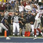 The Giants' 12-play, 83-yard drive was capped by Manning's 13-yard touchdown pass to Plaxico Burress with 35 seconds remaining.