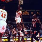 """The """"Human Highlight Reel"""" Dominique Wilkins had more than his share of dunks during the Hawks unmatched 14-game winning streak."""