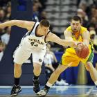 Big East Player of the Year Luke Harangody (pictured) wouldn't allow George Mason to start another magical tournament run, as the sophomore finished with 18 points and 14 rebounds.