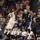 De'Jon Jackson's fadeaway jumper with 1.2 seconds remaining put the Toreros into the second round for the first time.