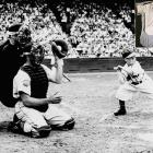 In the second game of a doubleheader on Aug. 19, 1951, the 3-foot-7 Gaedel entered the game for the Browns (against the Tigers) as a pinch hitter for leadoff batter Frank Saucier. He walked on four pitches and finished his major league career with an on-base percentage of 1.000.