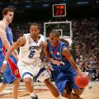 Tourney MVP Mario Chalmers' last-second three in regulation capped Kansas' comeback and sent the game into overtime.