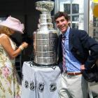 """My Dad bought into 1% of a horse at the beginning of the season--a speckled gray speedster named Flashy Bull. Suddenly, Flashy wins everything and qualifies for the Kentucky Derby. In the Owners Tent for our horse was the Stanley Cup, courtesy of two NHL players who were owners as well."" -- Danny Gaynor, 2006 at the Kentucky Derby."