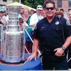 Here is the Cup at the 2002 Bolder/Boulder 10K run in Boulder, Colo. This was taken just outside Folsom field on the CU campus. What an experience!!! -- Jeff Hendry, Personnel Sergeant, Boulder County Sheriff's Office.