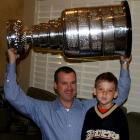"""It was a huge thrill for this Canadian boy to see the win, touch the cup, share it with my oldest son and feel the excitement it brought to Southern California. Special thanks to a neighbor who worked for the Ducks and allowed me to get up close and personal to it.""-- Peter A. Macdonald"