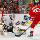 The upstart, eighth-seeded Oilers, with journeyman Dwayne Roloson between the pipes, began their unlikely march to the 2006 Stanley Cup Final by taking down the Presidents Trophy-winning Red Wings in six games. Three of the Oilers' four wins were by one goal.