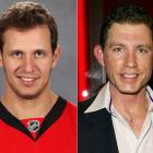 Senators center Jason Spezza led his team in scoring with 92 points (34 goals and 58 assists) this season and has scored 38 points in 36 playoff games heading into this postseason.<br><br>Lee Evans is a stand-up comedian and character actor. He most notably played a pathological stalker in the romantic comedy <i>There's Something About Mary</i>.