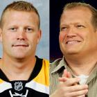 "Bruins goalie Tim Thomas posted a .921 save percentage (tied for 4th-highest in the league) this season, which would explain his appearance at the All-Star game this year.<br><br>Drew Carey is a comedian and game show host who is currently the host of ""The Price is Right."""