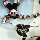 """In the annals of Buffalo's snakebitten sports history, the play dubbed """"No Goal"""" is near the top: Stars forward Brett Hull, with his foot clearly in the crease, was credited with what may forever be the most controversial goal in Stanley Cup history. It came in triple-overtime in Game 6 of the 1999 finals, and ended the series. That year it was illegal to score a goal if an offensive player's skate entered the crease before the puck did."""