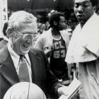 One month later, UCLA topped Notre Dame 82-63 for his record-breaking 61st win.  By the time he retired, Wooden had an overall record of 620-147.