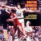 A tight series between two 62-win teams fittingly went down to the wire. Larry Bird hit a go-ahead bank shot in the final minute as the Celtics rallied from a six-point deficit in the final 4:30 to beat Philadelphia 91-90.