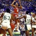 Milwaukee gained a measure of revenge after losing to Philadelphia in the playoffs in four of the previous five seasons. This time the Sidney Moncrief- and Terry Cummings-led Bucks survived 113-112 after Julius Erving missed an open 15-footer with two seconds left.