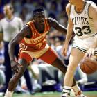 Dominique Wilkins, Atlanta's Human Highlight Film, exploded for 47 points in a stirring showdown with Larry Bird. But Bird saved his best for last, scoring 20 of his 34 points in the fourth quarter to help the Celtics escape 118-116.