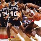 While Blazers center Kevin Duckworth provided an emotional lift by playing for the first time in the series after missing the previous six games with a broken hand, it was Clyde Drexler's five free throws in the final 26.2 seconds of overtime that clinched Portland's 108-105 win. The Spurs had the ball with the game tied 103-103 and about 30 seconds left, but Rod Strickland threw a no-look pass to no one in particular, and then he committed a breakaway foul on Drexler that led to two free throws and possession for Portland.