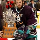 The fifth and most recent playoff MVP from a team that lost the Cup final, Giguere had a breathtaking run with the upstart Mighty Ducks of Anaheim. Five of his 15 wins were shutouts and he posted a miserly 1.62 goals-against average in 21 postseason games while knocking off Detroit, Dallas and Minnesota before falling to New Jersey in seven games.