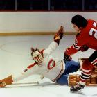 The lanky Dryden established Montreal's postseason legend of rookie excellence by coming out of the minors late in the 1970-71 season and leading the Habs to the Cup, the first of six with him in net. Dryden beat the Bobby Orr-Phil Esposito Bruins in an epic seven-game first round (Esposito, who had scored 76 regular-season goals, was held to three) and captured the Cup by snuffing Chicago in another series that went the distance. His final numbers: 12-8, 3.00 GAA.