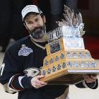 """The swift-skating defenseman's fourth Stanley Cup brought the first Conn Smythe of his illustrious career after a five-game victory over the Ottawa Senators. """"I was a little surprised. We had a handful of candidates,"""" Niedermayer, 33, the Ducks' captain, said. """"I was out there trying to do my thing, whether it was playing good solid defense, blocking a shot, helping out on offense. I'm thankful I was out there to help the team and not really thinking about an award like this."""""""