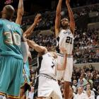 After all the talk about the defending champs supposedly fading, the Spurs proved nay-sayers wrong by winning back-to-back games against the Hornets to tie playoff series at 2-2.