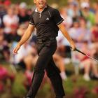 Sergio Garcia withstood high winds and made some key putts to win the Players Championship on Sunday, the biggest victory of his career and his first on any tour since 2005.