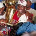 The Chicago Bulls capture their third consecutive NBA championship with a 4-2 series victory over the  Phoenix Suns.