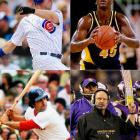 (Clockwise from top left)  <br> <br>Jim Edmonds (1970)  <br>Chuck Person (1964)   <br>Brad Childress (1956) <br>Rico Petrocelli (1943) <br>