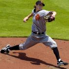 Tim Lincecum sports the uniform of the Brooklyn Royal Giants, a Negro League team that disbanded in 1942.