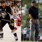 """During the 2008 Stanley Cup Final, Milbury came to the NHL's defense when Tiger Woods suggested that no one watches hockey anymore. Milbury calls the golfer """"Tiger Wuss"""" and threatens to send Pittsburgh Penguin forward Gary Roberts to give Woods a thrashing for his impudence."""