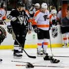 """A Flyers-Penguins line brawl on April Fools Day 2012 left Mad Mike in peak form. During an interview on a Philadelphia radio show, he accused Penguins coach Dan Bylsma of wearing a skirt and called Sidney Crosby a """"punk"""" and """"Goody Two Shoes."""" He also mocked Crosby's """"35th concussion."""" Milbury later apologized, saying, """"I reached out to (Pittsburgh president) David Morehouse and the Penguins about the comments I made yesterday on Philadelphia radio. In hindsight, I realize what I said was inappropriate and wrong, and I want to apologize to the Penguins organization and their fans."""" He did not apologize to Crosby or Bylsma, though."""