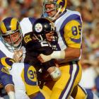 A chop block snapped Youngblood's fibula just above the ankle, but the defensive end returned with a leg brace to help the Rams upset the Cowboys, even sacking Roger Staubach once. He played through the rest of the playoffs, as the Rams lost in the Super Bowl to the Steelers.
