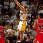 With his Pacers down by one late in Game 4, Miller came off a double-screen to hit a game-winning three-pointer with less than a second left on the clock -- all with a sprained ankle. The shot tied the series, but the Bulls would ultimately advance to the Finals in seven games.