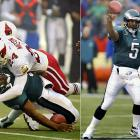 With the Eagles fighting for a playoff berth, their quarterback limped off the field after getting sacked by a pair of Cardinals on the third play of their Week 11 game. Telling the trainers his ankle was merely sprained, McNabb returned to the game and went 20-of-25 for 255 yards with a career-high 4 TDs. He missed the next six weeks but returned in the playoffs, where the Eagles lost to Tampa Bay in the NFC Championship game.