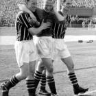 Manchester City's goalkeeper broke a vertebrae in his neck while making a play with 15 minutes to go in 1956 FA Cup Final. He went on to make two mores saves in his team's 3-1 victory.