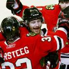 In the second period of Game 4 of the Western Conference Finals, the Chicago Blackhawks' defenseman took a puck to the mouth and spat up seven teeth. The Hawks medical staff stopped the bleeding and removed tooth fragments before Keith returned to complete the four-game sweep of the San Jose Sharks. Keith and the Hawks went on to win the Stanley Cup Finals.