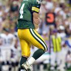 The NFL record holder for consecutive starts by a quarterback, Favre played through a multitude of injuries: from a broken thumb on his throwing hand during the second half of the 2003 season to tendinitis in his left elbow early in the 2000 season.
