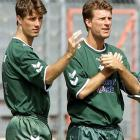 The Laudrup's are considered the greatest Danish football players in history. Brian won the Danish Footballer of the Year award a record four times, and Michael was officially named the best Danish footballer of all time by the DBU in November 2006. The two announced their international retirement following Denmark's World Cup elimination in 1998.