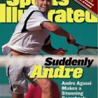 Two years after dropping to No. 141 in the world, Agassi capped his return to the elite class with a comeback victory from two sets down in the French Open final against Andrei Medvedev. With the dramatic 1-6, 2-6, 6-4, 6-3, 6-4 triumph, Agassi became the fifth man to earn a Career Grand Slam -- and the only male player to complete the circuit on three different surfaces. (The previous four won on clay and grass only.)