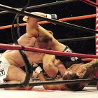 """Quicker on his feet than former """"Ultimate Fighter"""" Mike Whitehead (white trunks), Renato """"Babulu"""" Sobral employed a tenacious defense for a unanimous-decision victory."""