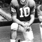 "Born and raised in Athens, Tarkenton was called ""the greatest quarterback to ever play the game,"" when he suited up for Bud Grant's Minnesota Vikings. In 1959, in a play that went down in Georgia history, Tarkenton threw a fourth-down touchdown pass to lead the Bulldogs past Auburn and win the conference title. A College Football Hall of Fame member and a 1960 All-America, Tarkenton played 18 years in the NFL and led the Vikings to three Super Bowl appearances."