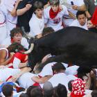 The Running of the Bulls took place this week in Pamplona, Spain. Looks like a fun time.
