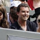 Roger Federer's girlfriend Mirka Vavrinec (left) shared a box at Wimbledon last weekend with Gwen Stefani and husband Gavin Rossdale.