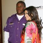 Reggie Bush and girlfriend Kim Kardashian attended the Second Annual Celebrity Bowling Night held by Matt Leinart on Thursday.