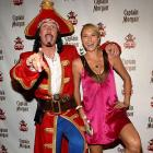 Stacey Keibler was harassed by Captain Morgan at an All-Star party in Manhattan.