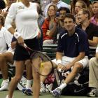 Then she played in a World Team Tennis match, where she was oogled by Justin Gimelstob.