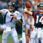 Mike Shanahan surprisingly tabbed Griese over Bubby Brister as the Broncos' starting quarterback in 1999. Although Griese's numbers were respectable during that first season (completed 57 percent of his passes for 3,023 yards with 14 touchdowns and 14 interceptions), the offense never overcame the loss of Terrell Davis early in the season. However, Griese bounced back the following year to post a 102.1 passer rating and the second-best touchdown to interception ratio (19-to-4) in NFL history.