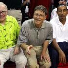 Warren Buffet, Bill Gates and Ludacris sat courtside during an exhibition basketball game between Team USA and Canada in Las Vegas last Friday.  It's likely Ludacris was seeking advice from Gates and Buffet regarding his next album.