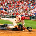 The Braves' already slim postseason hopes took a big hit when the Phillies' Shane Victorino flattened catcher Brian McCann in the sixth inning of Philadelphia's 12-10 win last Sunday.  McCann suffered a mild concussion and was expected to miss about a week.