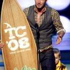 David Beckham won the Choice Male Athlete award at the 2008 Teen Choice Awards earlier this week.